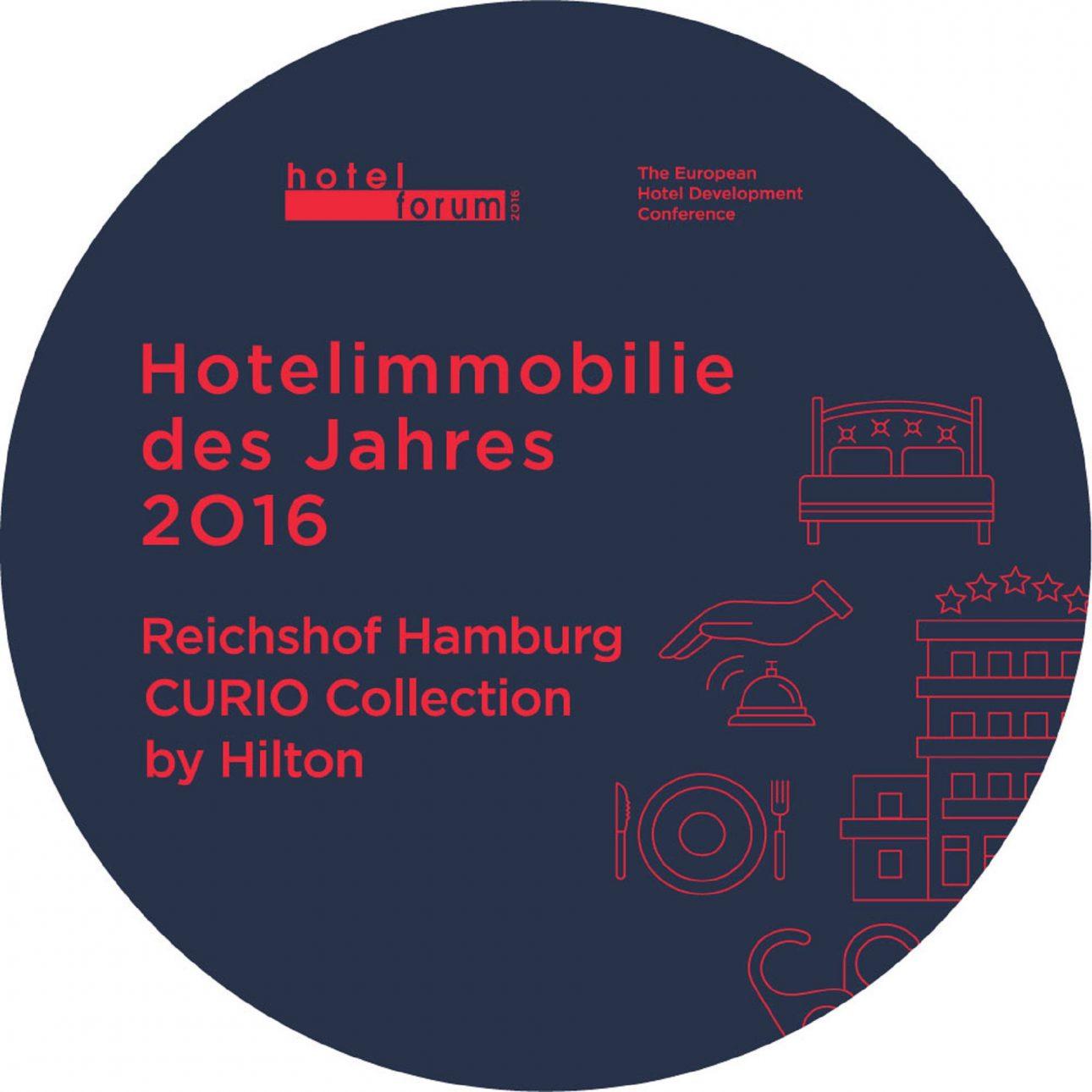 Logo Award Hotelimmobilie des Jahres 2016 Reichshof Hamburg