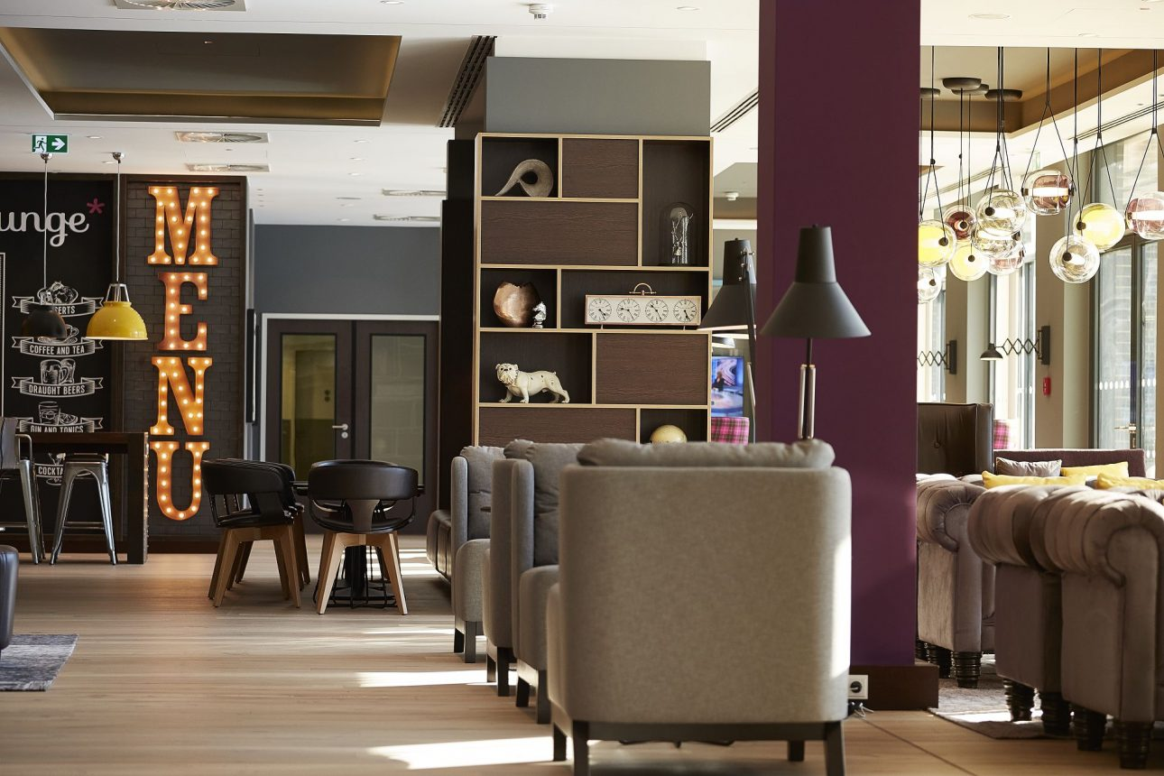 Die Lobby im Premier Inn in Frankfurt am Main