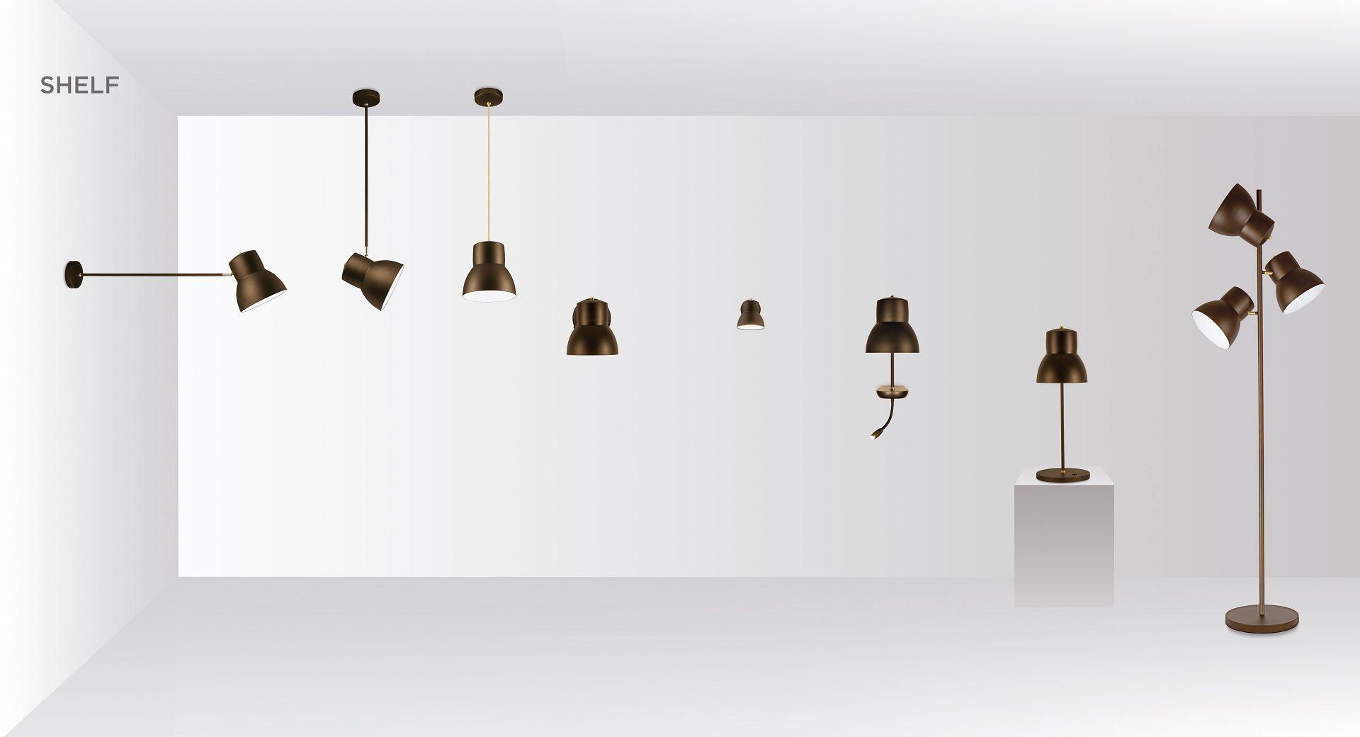 Leuchte Schelf von MLE . Entwurf JOI-Design