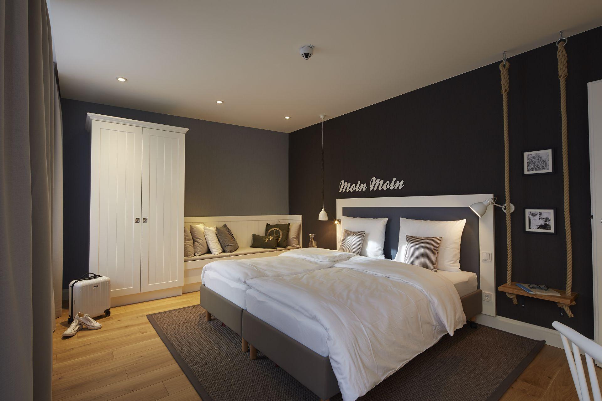 Schlafzimmer im Apartment im Hapimag Resort in Hamburg