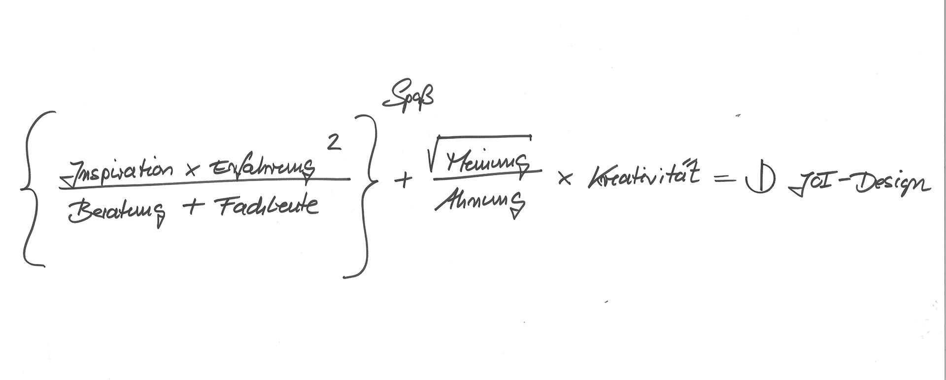 Auszug aus der Homepage von JOI Design Philosophie Formel