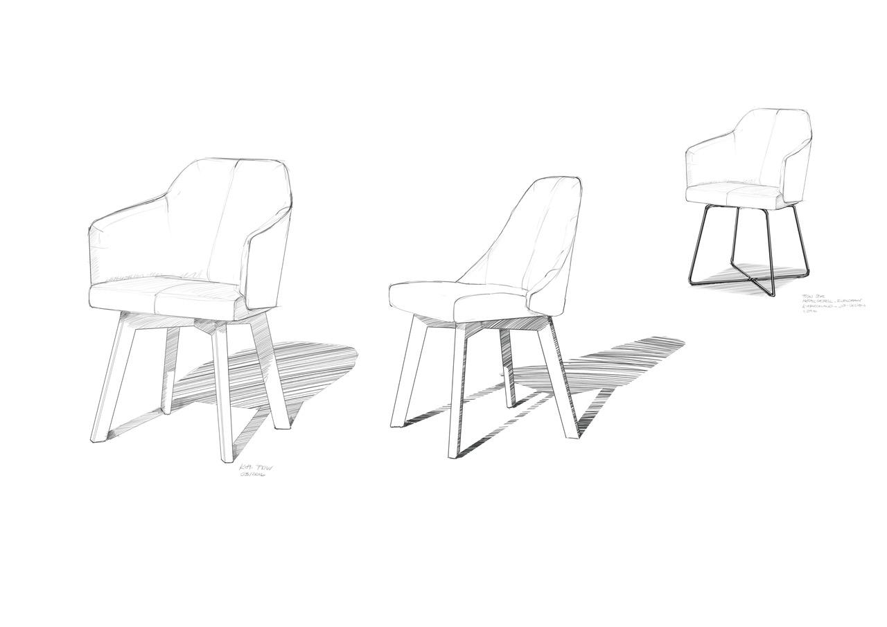 Stuhl Flow von ipdesign. Entwurf von JOI-Design.
