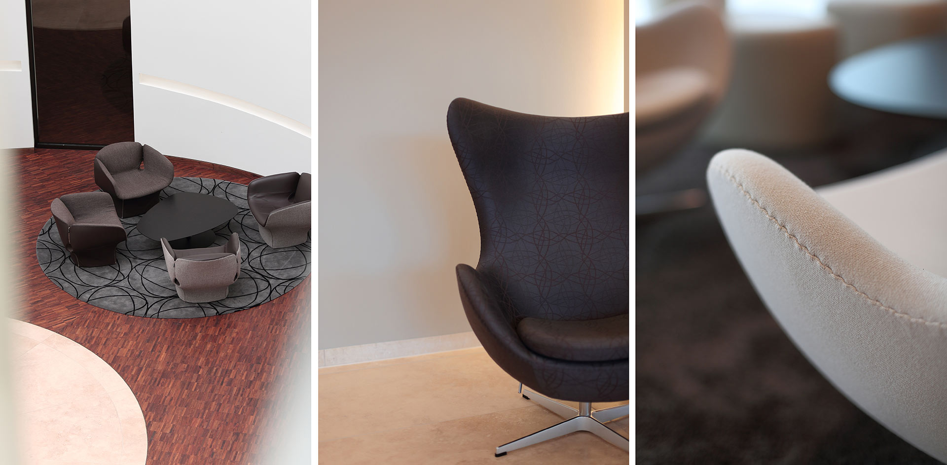 Sitzgelegenheiten im Office der DVAG Holding in Marburg
