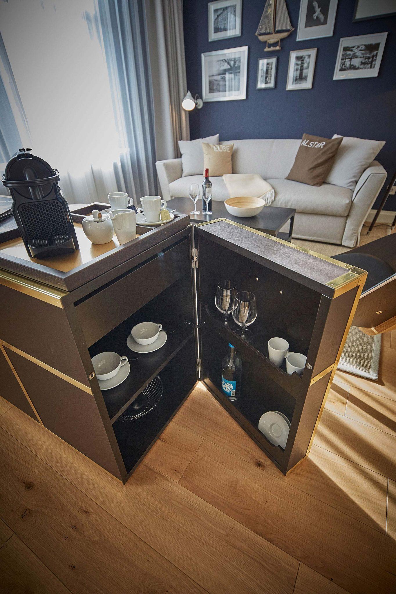 Ein Apartment im Hapimag Resort Hamburg. Entworfen von JOI-Design.