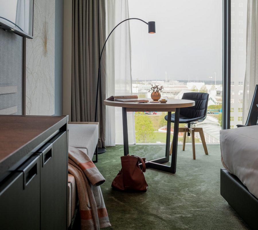 Ein Zimmer im Hotel Hilton am Munich Airport