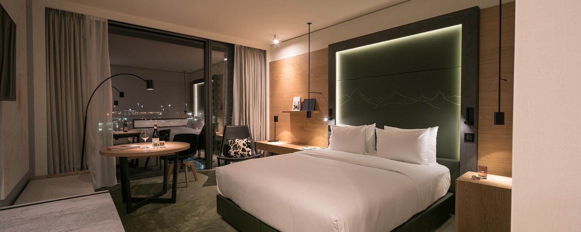 Ein Zimmer im Hotel Hilton´Munich Airport