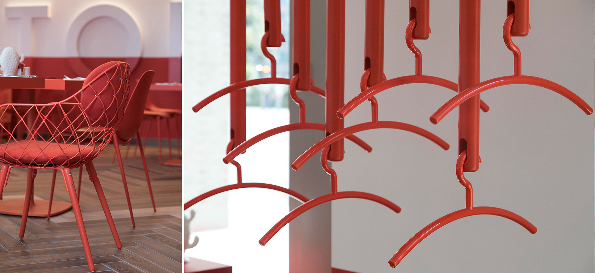 Das Restaurant und Garderobe des Capri by Fraser in Berlin