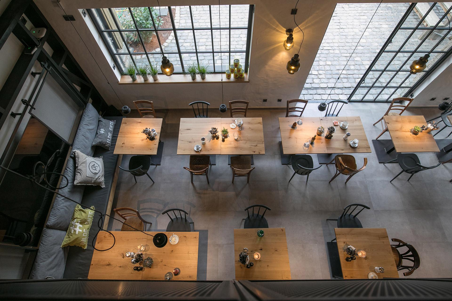 Ansicht von oben. Restaurant Wilde Ente in Iserlohn.