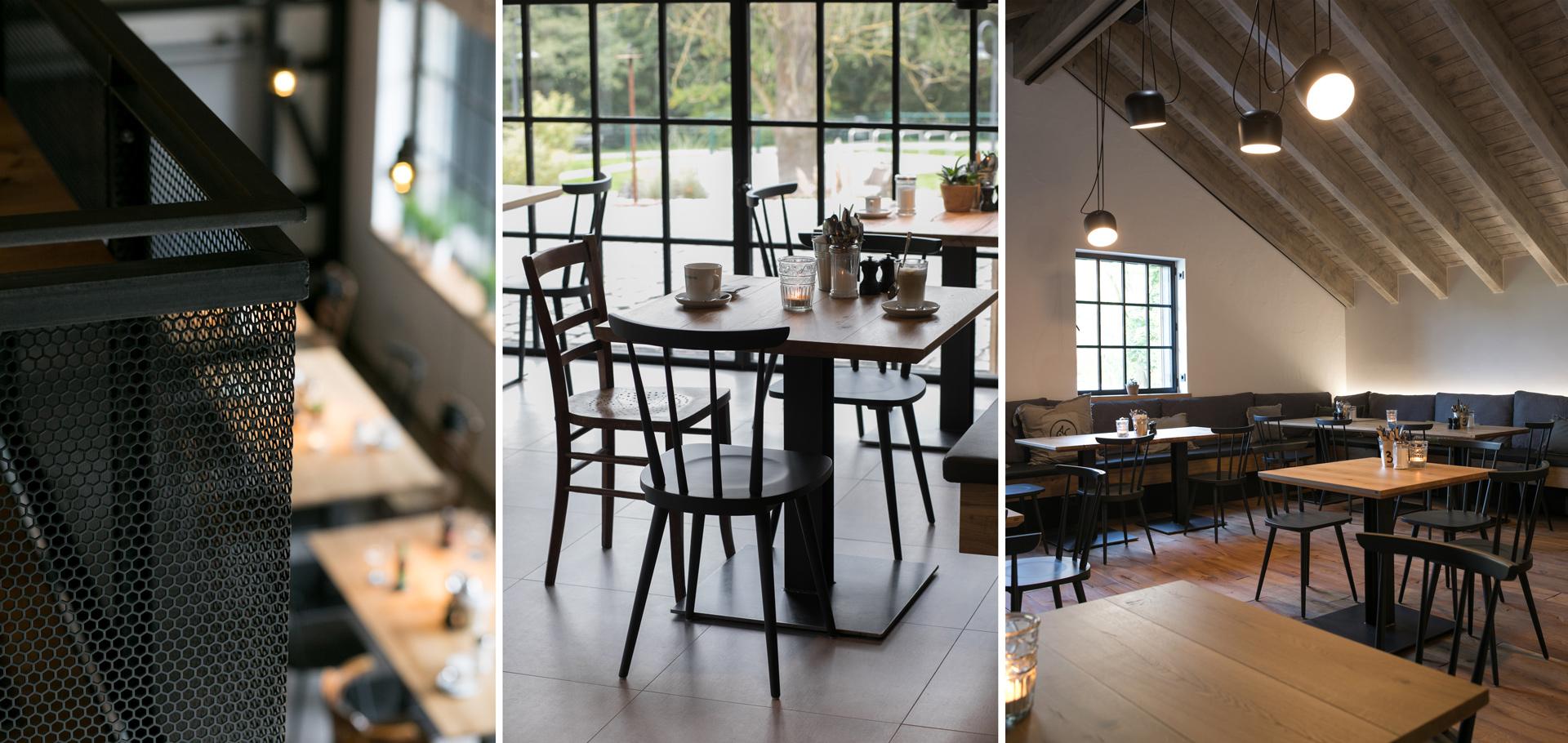 Verschiedene Bereiche des Restaurants Wilde Ente in Iserlohn