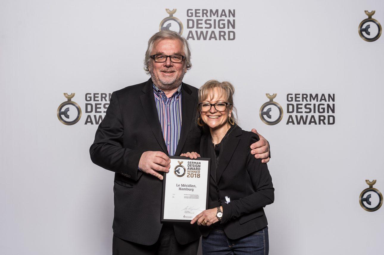 Peter Joehnk und Corinna Kretschmar-Joehnk mit Auszeichung beim German Design Award 2018