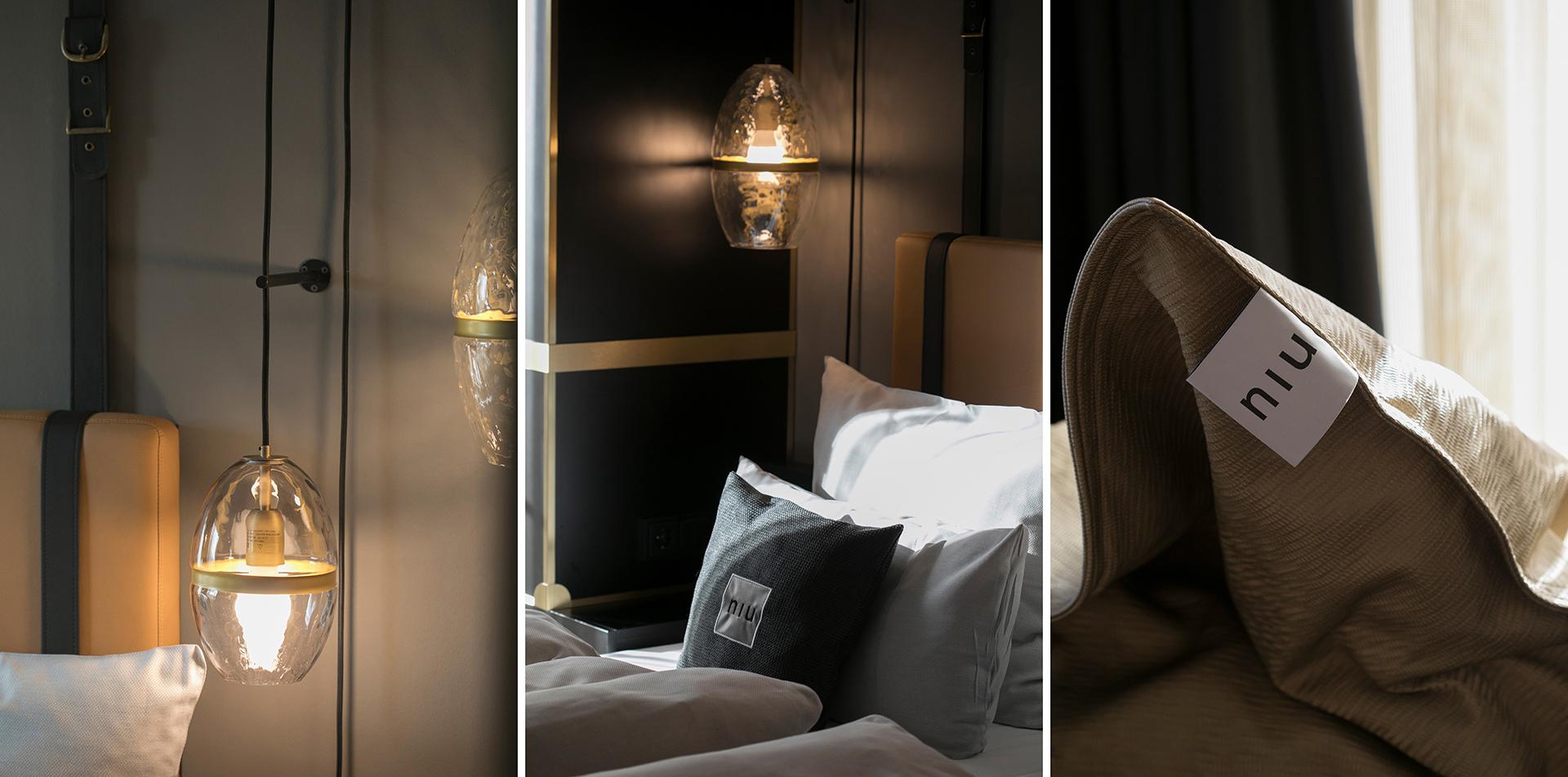 Details im Zimmer vom Hotel niu Cobbles by Novum. Entwurf von JOI-Design.