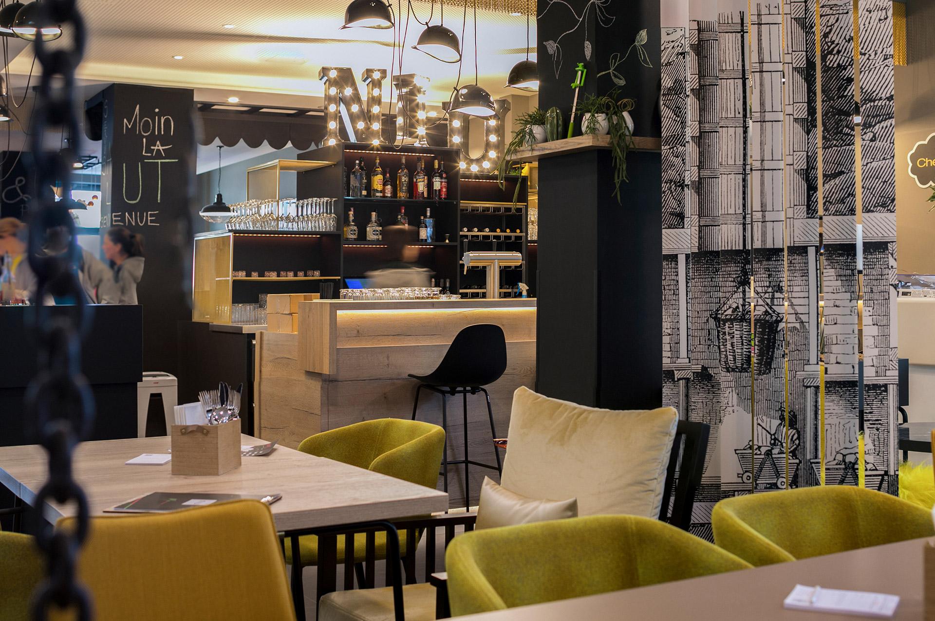 Das Restaurant vom Hotel niu Cobbles by Novum . Entworfen von JOI-Design