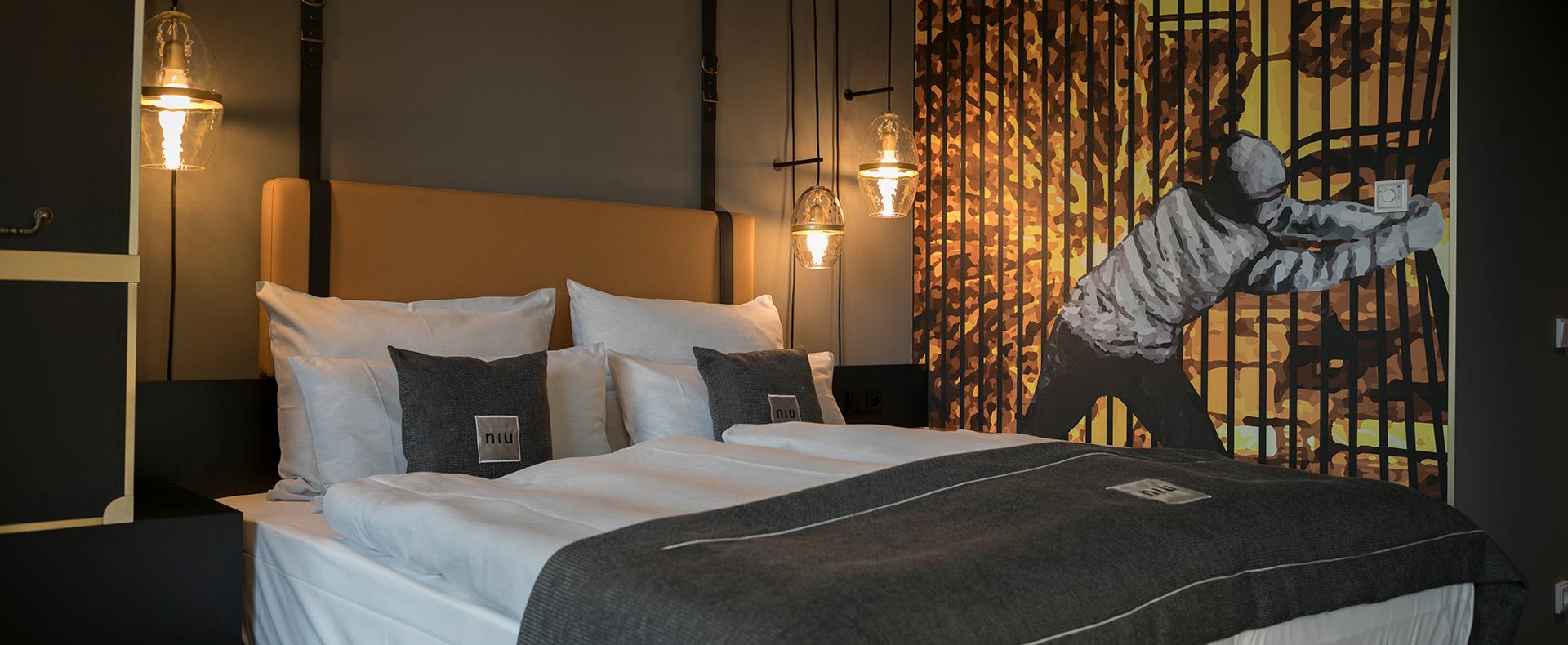 Ein Zimmer im Hotel niu Cobbles by Novum. Entworfen von JOI-Design