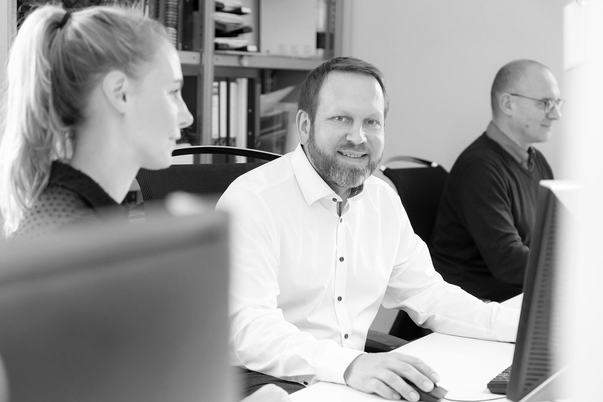 Katharina Klotz, Heinrich Böhm und Stefan Segebarth von JOI-Design.