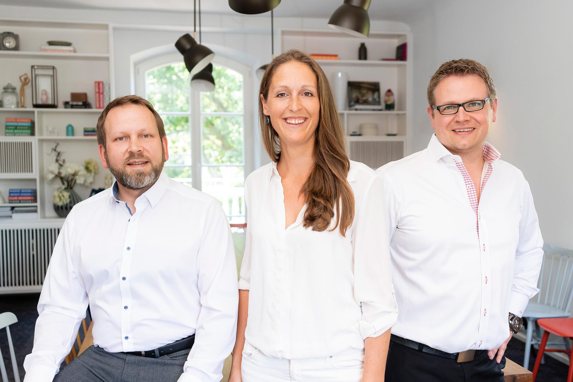 Heinrich Böhm, Sabrina Voecks und Thomas Scholz von JOI-Design.