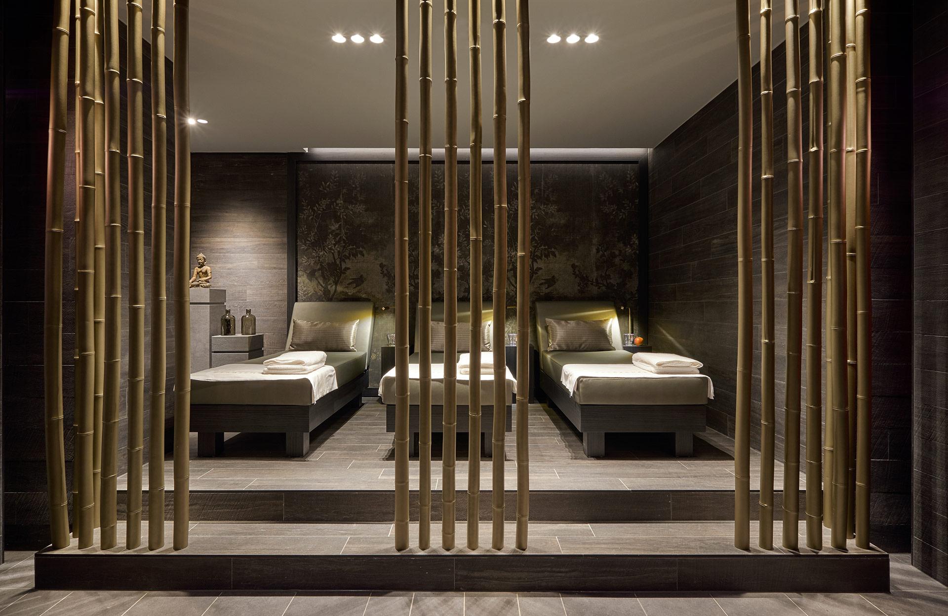 Der Spa im Hotel Der Öschberghof in Donaueschingen. Entworfen von JOI-Design.