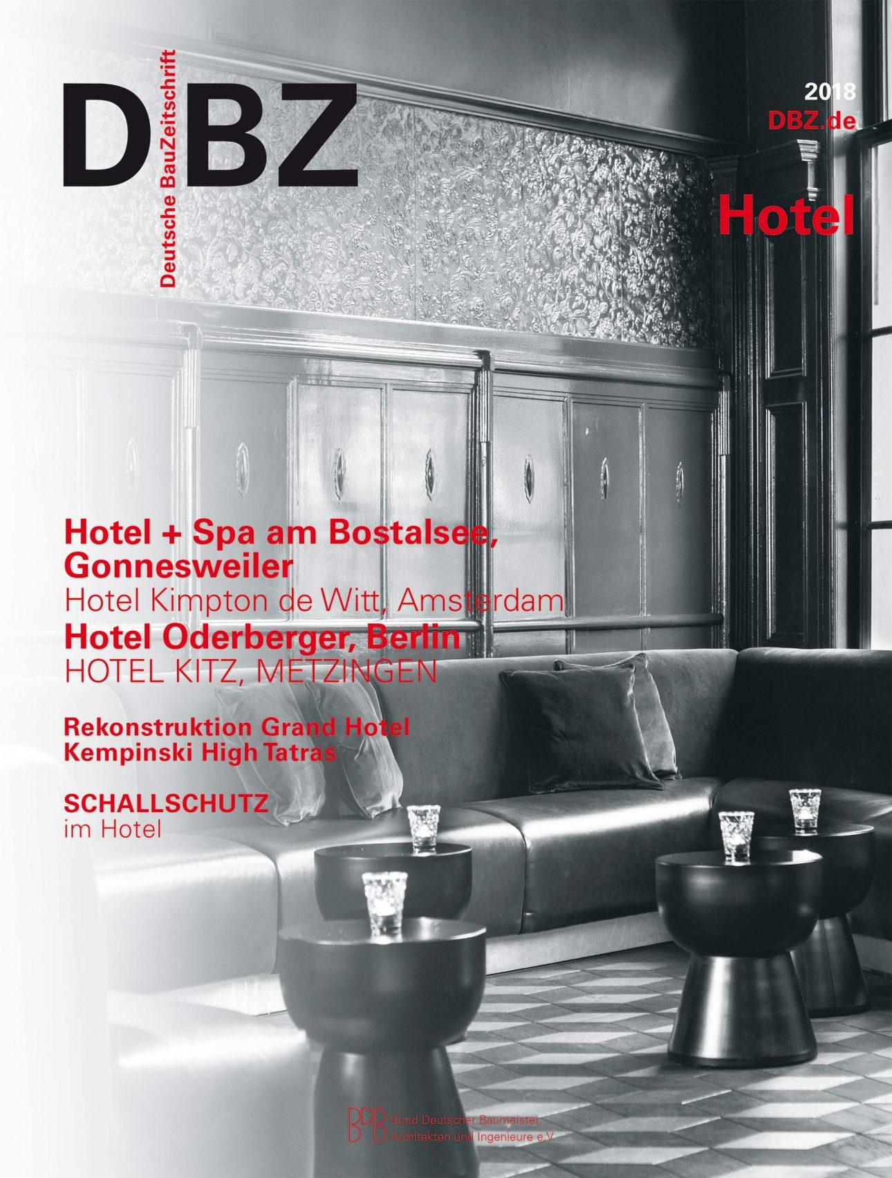DBZ Sonderheft Hotel 2018 Titelblatt