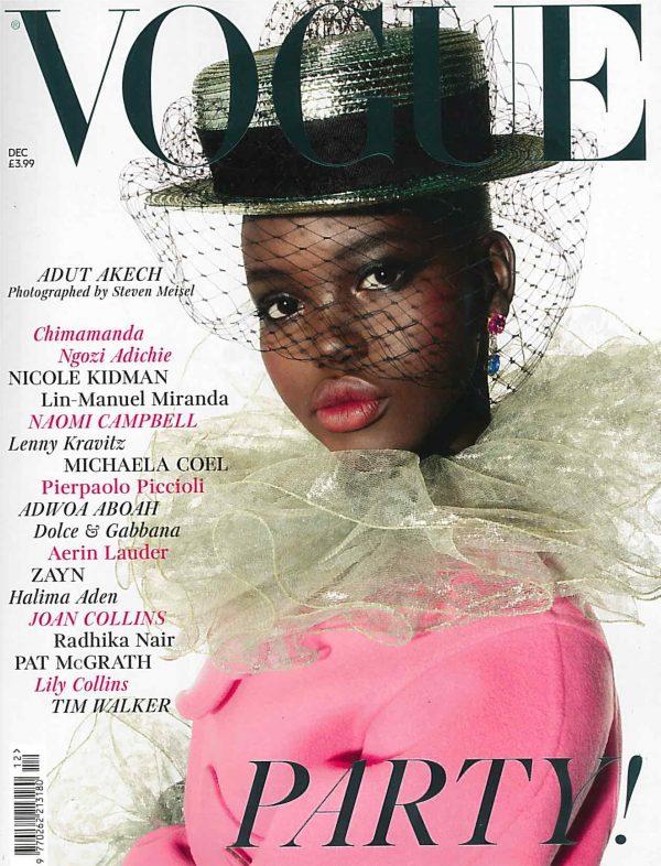 Das Titelblatt der Vogue UK aus dem Dezember 2018