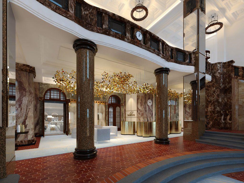 Die Eingangshalle des Fraser Suites