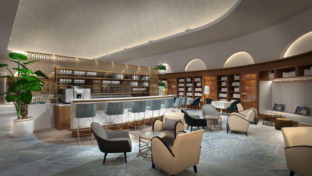 Die Bar im Fraser Suites