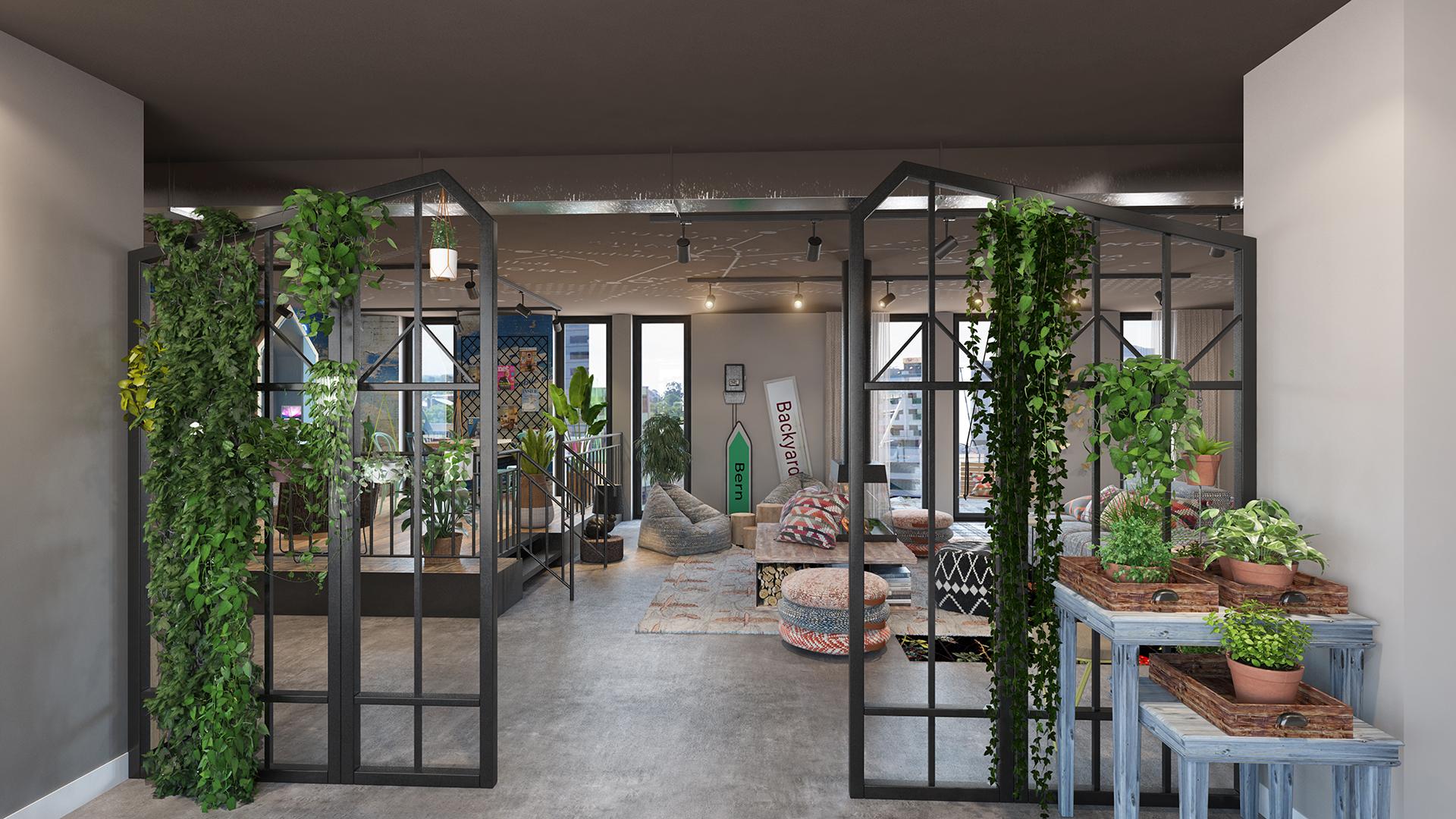 Visualisierung vom neuen Extended Stay Konzept Stay KooooK in Bern