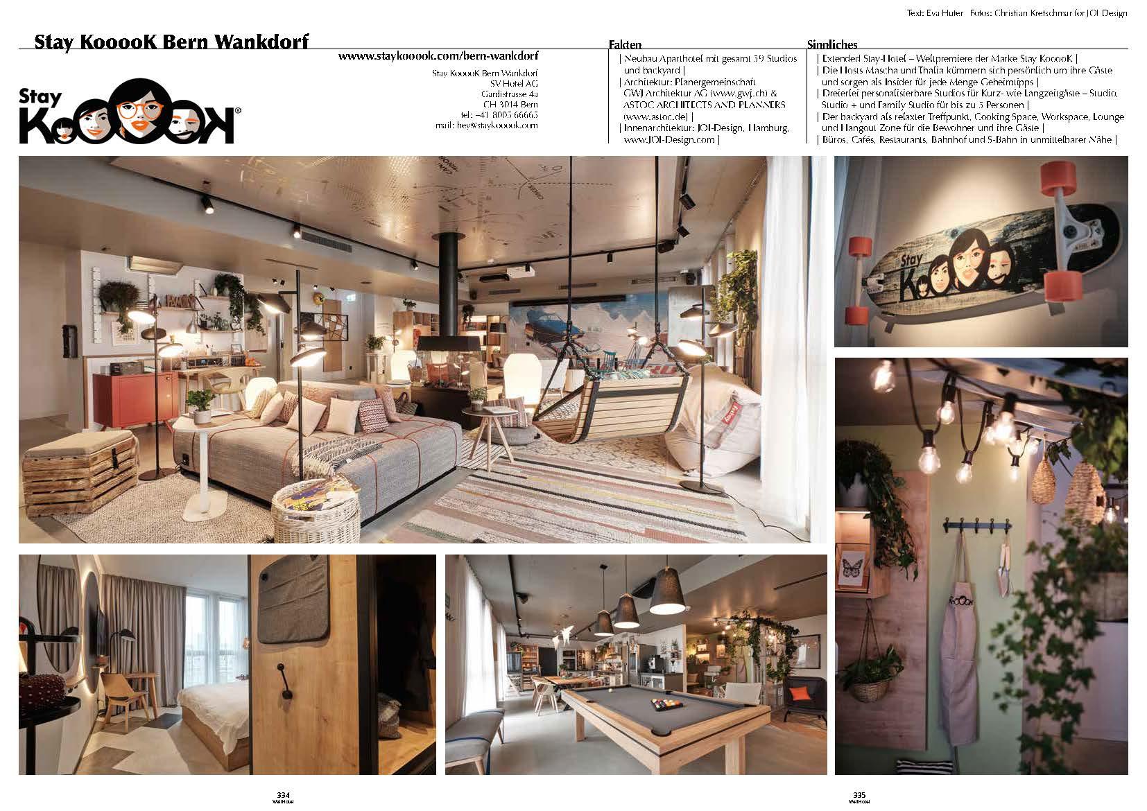 wellhotel   Stay KooooK Bern   JOI Design   Innenarchitektur ...